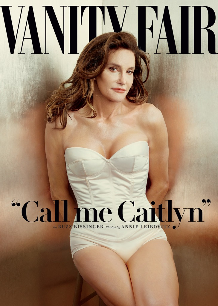 Caitlyn Jenner's cover image for Vanity Fair. Credit: Annie Leibovitz/AP